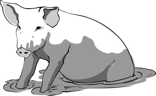 Download pngtransparent PlusPng.com  - PNG Pig In Mud