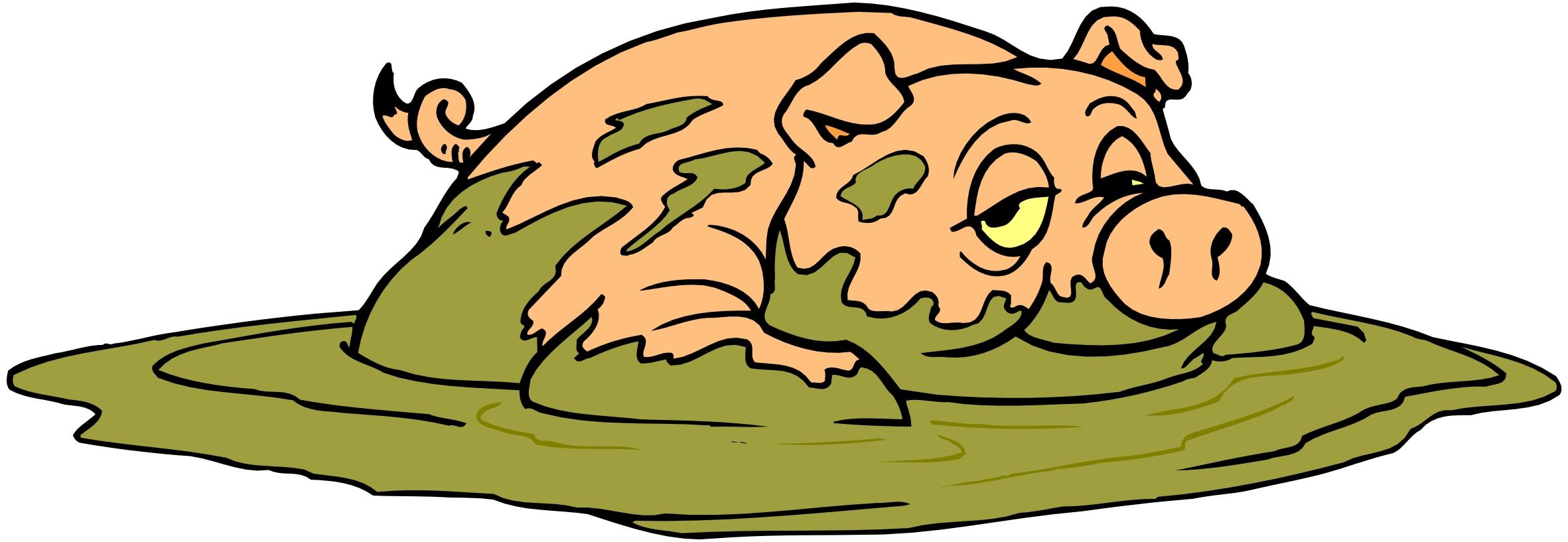Pig In Mud Clipart - PNG Pig In Mud