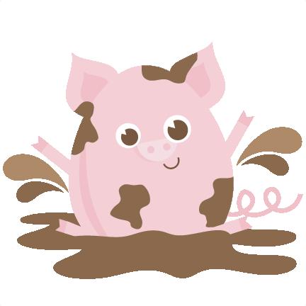 Pig In Mud SVG files for scrapbooking pig svg file pig svg cut file free  svgs free svg files free svg cuts - PNG Pig In Mud
