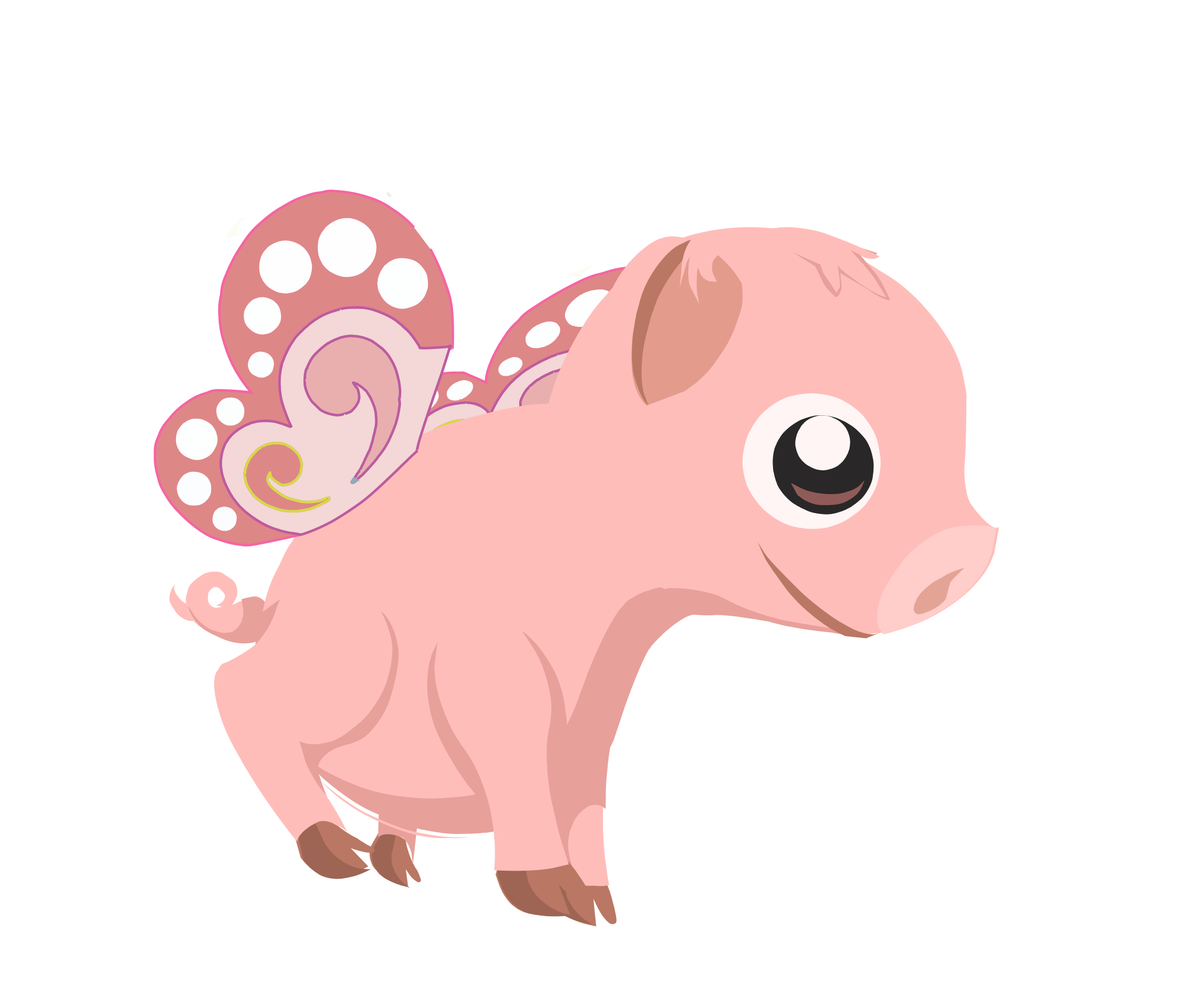 Flying piglet Animation - PNG Piglet