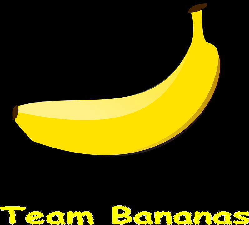 Pisang, Logo Tim, Buah, Makanan, Segar, Vitamin, Matang - PNG Pisang