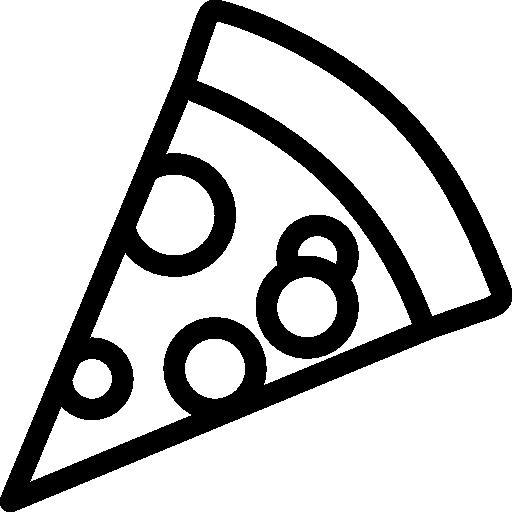 512x512 pixel - PNG Pizza Black And White