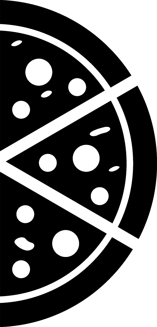PNG Pizza Black And White - 79879