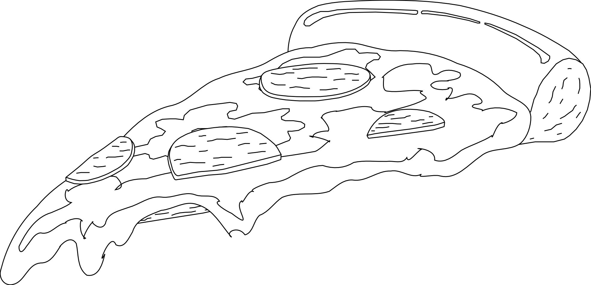 Pizza Black And White #2028961 - PNG Pizza Black And White