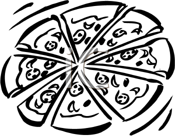 PNG Pizza Black And White - 79874