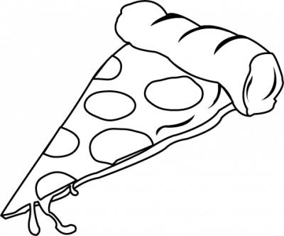 PNG Pizza Black And White - 79876