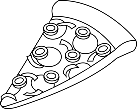 PNG Pizza Black And White - 79870