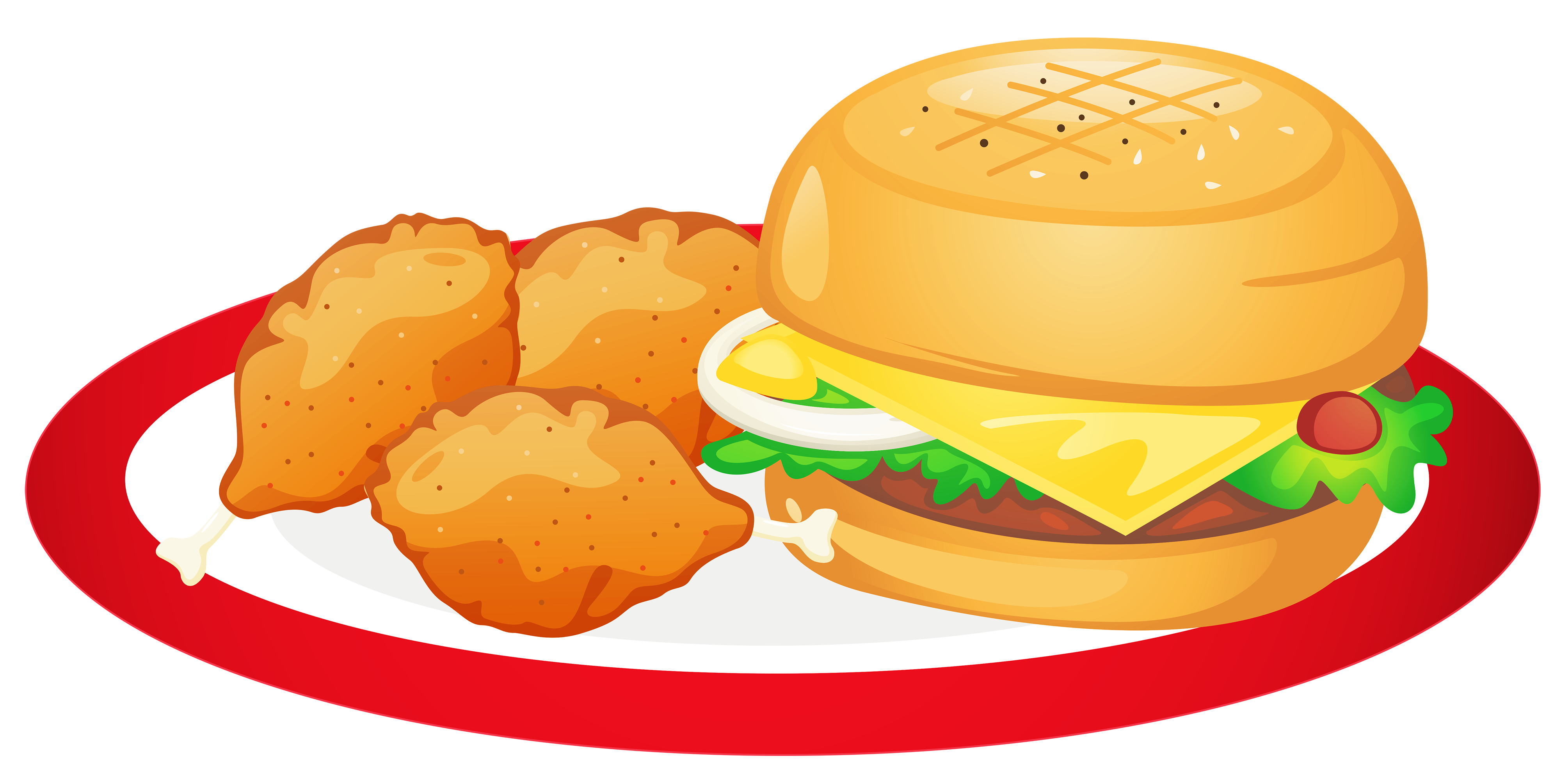of food clipart png - PNG Plate Of Food