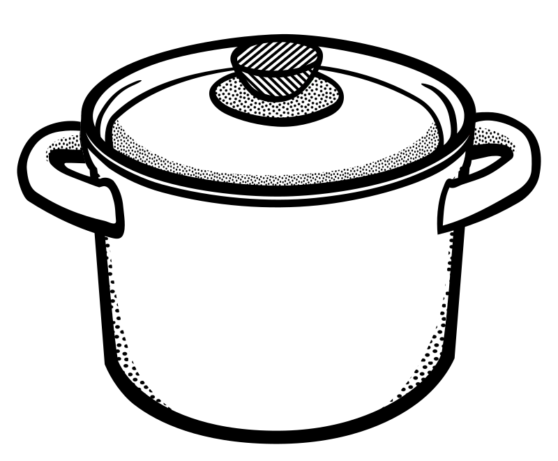 PNG Pot Black And White - 71374