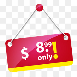 Red price tag, Red, FREE, Dollar PNG Image - PNG Price Tag