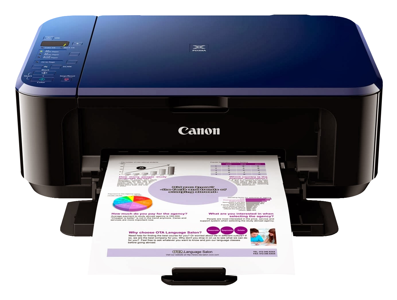 Canon Color Photo Printer PNG image - PNG Printer