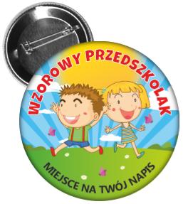 Przypinka: Wzorowy Przedszkolak (Dzieci)   nazwa przedszkolak - PNG Przedszkolak