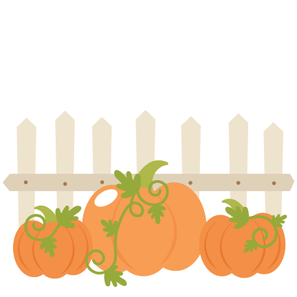 Pumpkins With Fence SVG cutting files cute cut files for cricut free svgs  free svg cuts cute svg files - PNG Pumpkin Patch