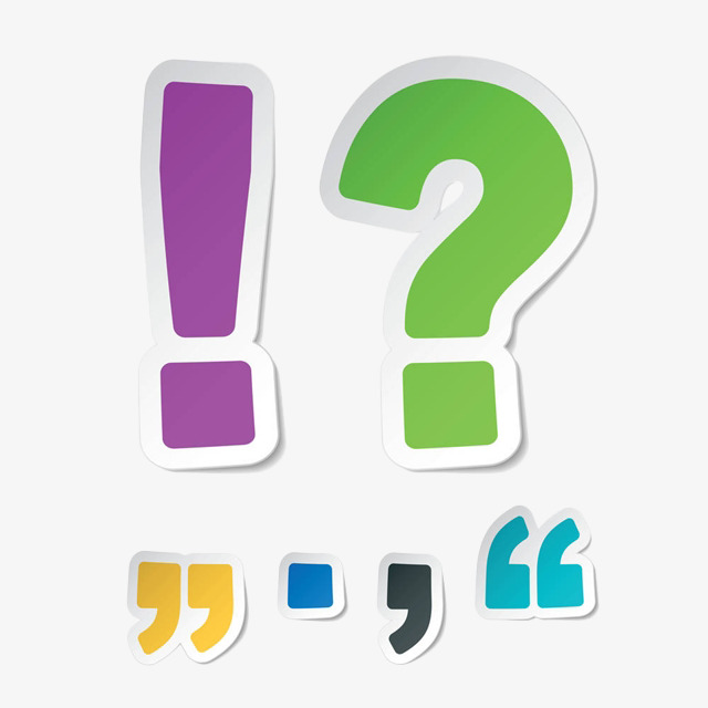 Cartoon paper tearing punctuation mark Free PNG - PNG Punctuation