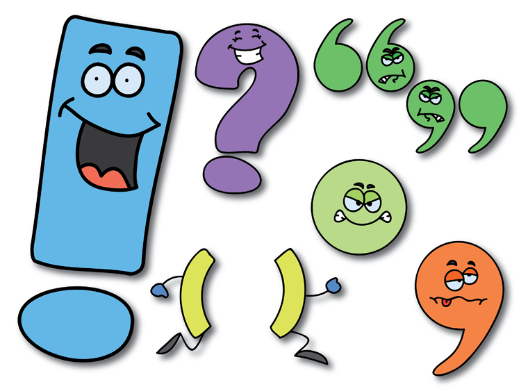 Punctuation Character Cut Outs Punctuation Character Cut Outs - PNG Punctuation