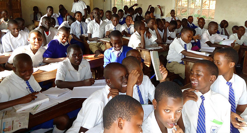 Pupils of Shimoni Demo School in class. - PNG Pupils In Class