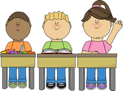 Students at School Clip Art - Students at School Vector Image - PNG Pupils In Class