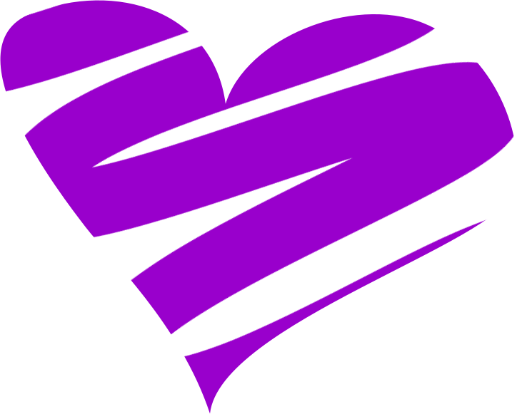 File:Coeur Heart Purple.png - PNG Purple Heart