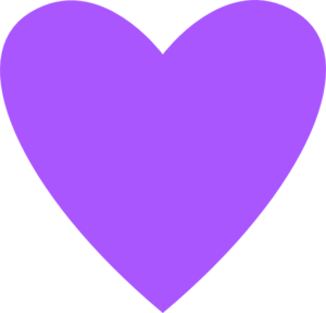 Heart Purple Clip Art - PNG Purple Heart