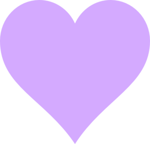 Light Purple Heart Clip Art - PNG Purple Heart