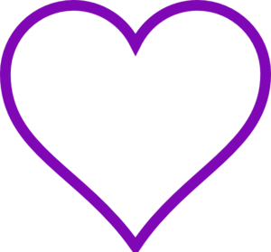 Purple Heart Outline Clip Art - PNG Purple Heart
