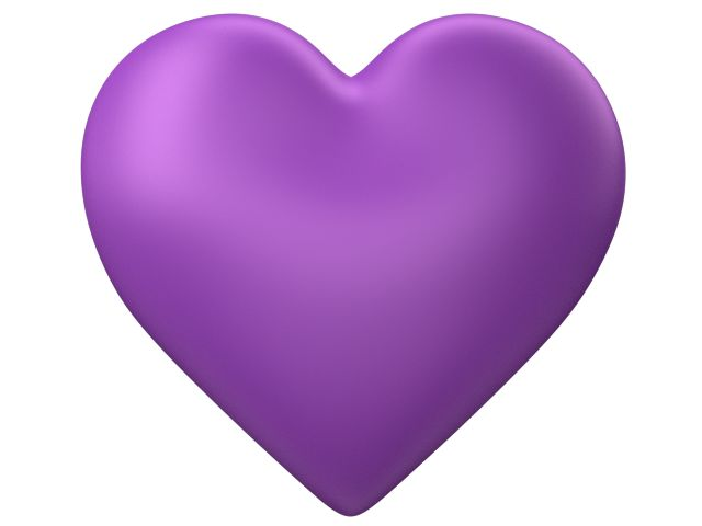 Purple Love Heart with Transparent Background - Valentine Clip-art - PNG Purple Heart