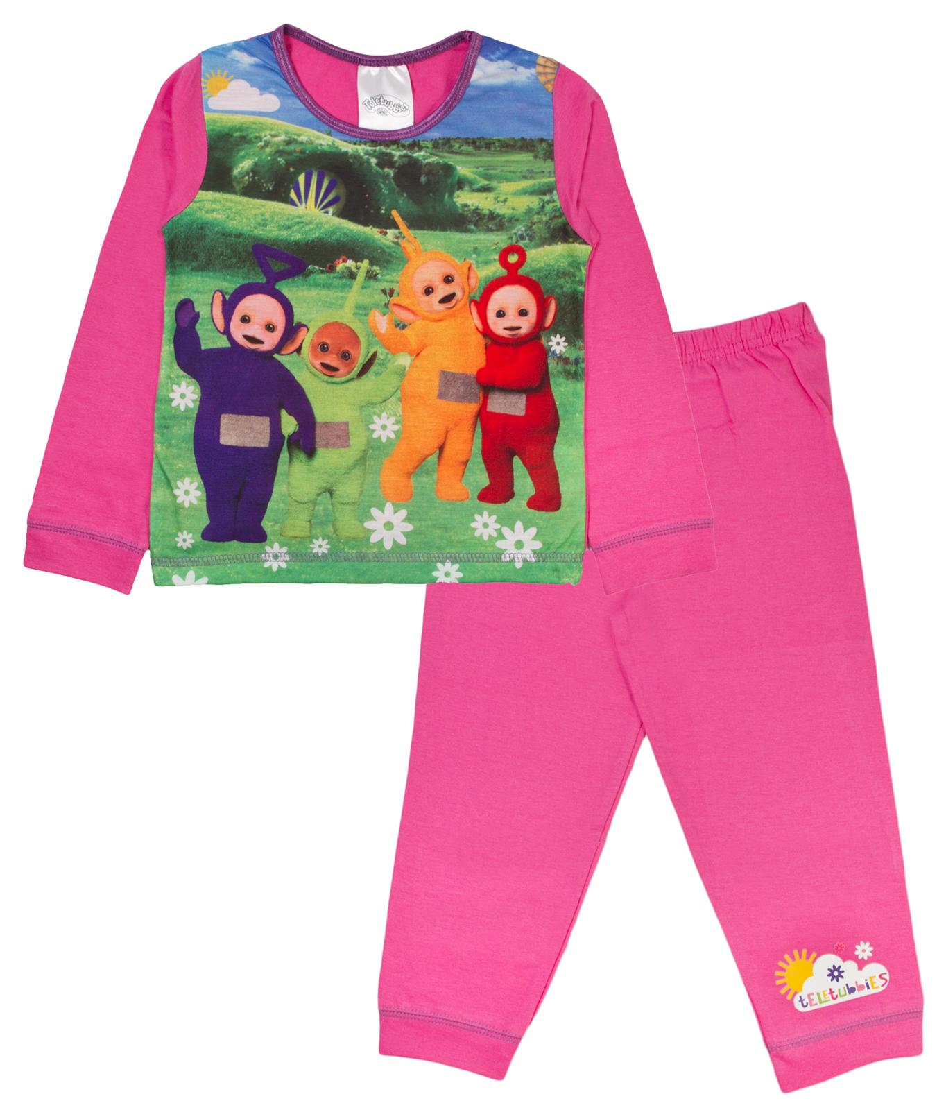 Boys-Girls-Teletubbies-Pyjamas-Pjs-Full-Length-PJ- - PNG Pyjamas