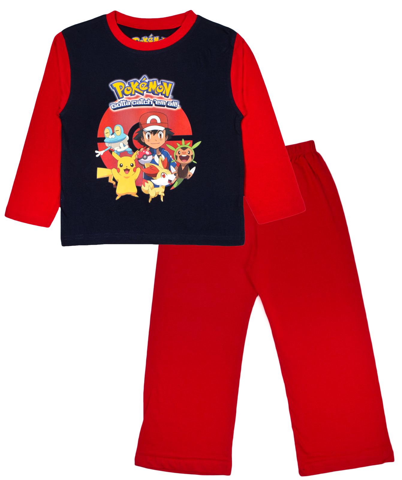 Boys Pokemon Go Pyjamas Full Length Pikachu Pjs 2 Piece Pyjama Set Kids Size - PNG Pyjamas