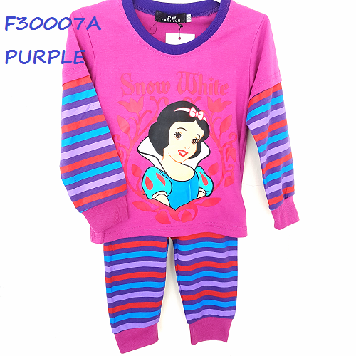 Girl Pyjamas Long Sleeves with Pants,˝CINDERELLA˝Design Printed (Baju Tidur  Budak - PNG Pyjamas