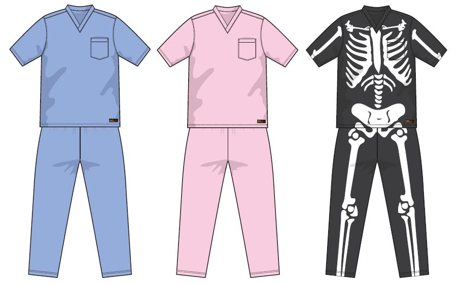 scrub pajamas - PNG Pyjamas