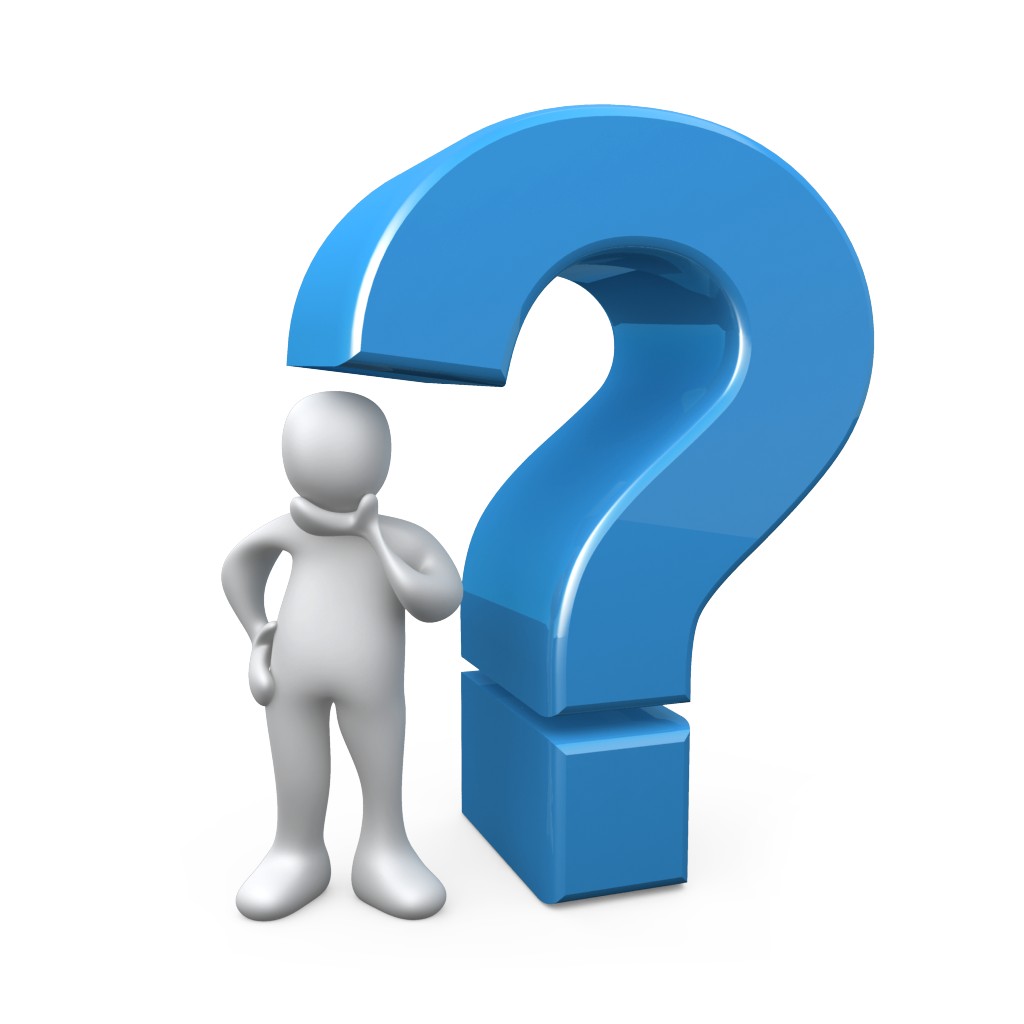 3d Question Mark Icon Blue Color Picture - PNG Question