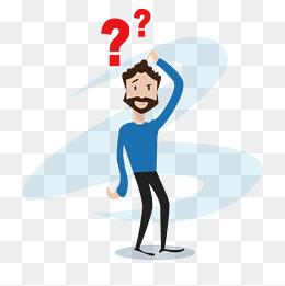 Confused cartoon man, Question Mark, Confused, Cartoon PNG and Vector - PNG Question