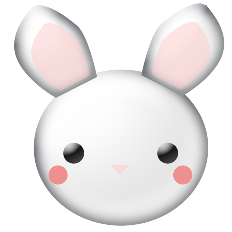 Bunny Clipart by WordDraw PlusPng.com  - PNG Rabbit Face