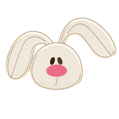 Bunny Face Applique - PNG Rabbit Face