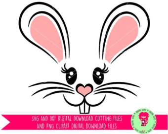 Easter Bunny Rabbit Face SVG / DXF Cutting File for Cricut Design Space /  Silhouette u0026 - PNG Rabbit Face