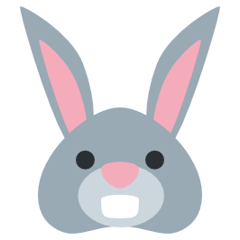 HEY twitter : TIGER FACE EMOJI Rabbit face - PNG Rabbit Face