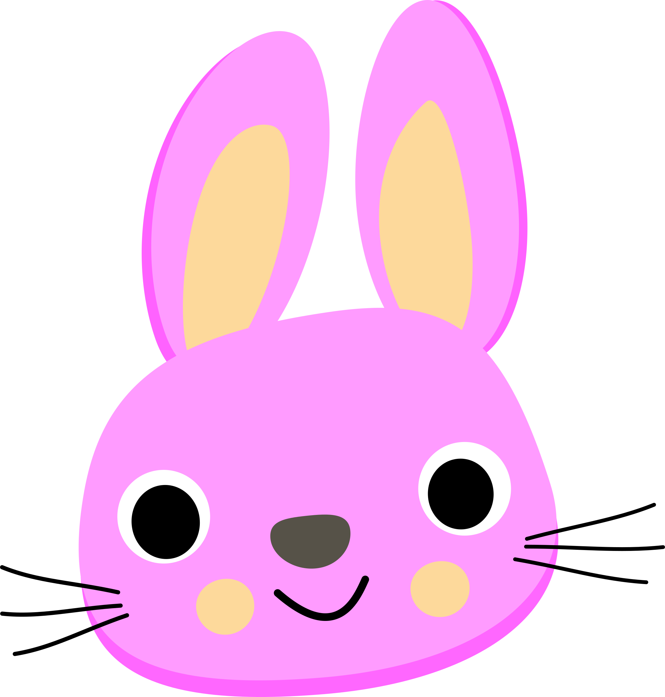 Purple Bunny Face Vector art. Graphic by Talekids. - PNG Rabbit Face