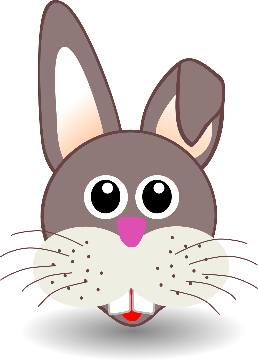 . PlusPng.com Rabbit Face Cartoon Sheet Page 999px.png 145(K) - PNG Rabbit Face