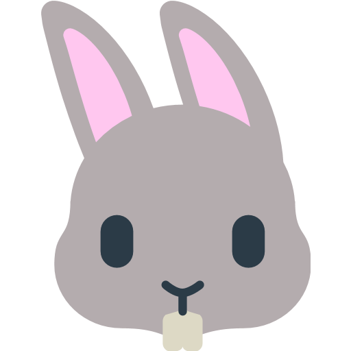 Rabbit Face Emoji - PNG Rabbit Face