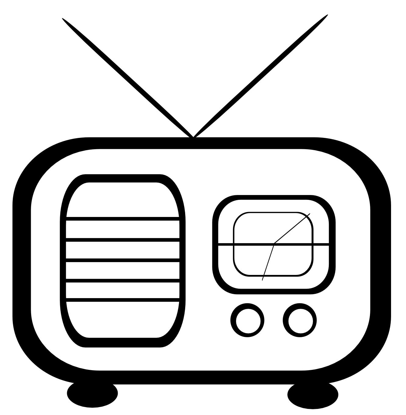 Clipart Radio - PNG Radio Black And White
