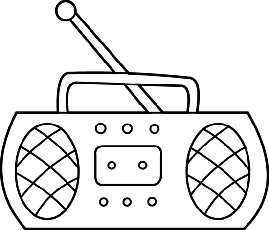 PNG Radio Black And White - 75587