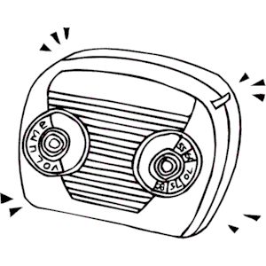 Radio Clipart - PNG Radio Black And White