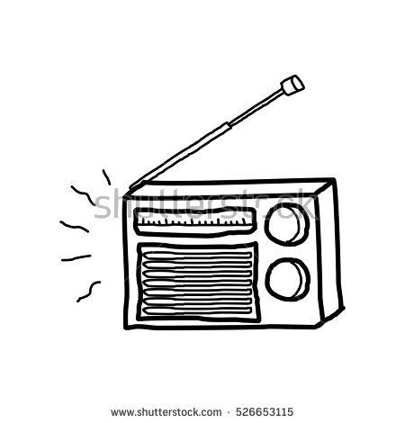 radio doodle - PNG Radio Black And White