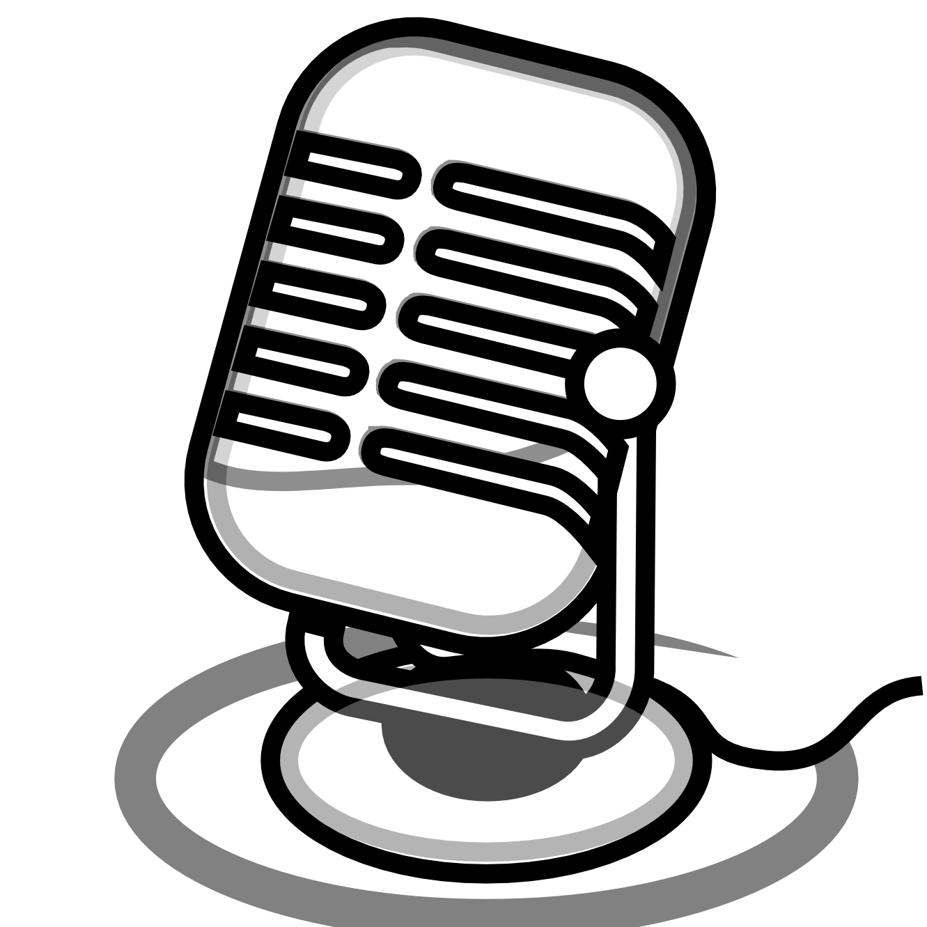 Radio Microphone Clipart - PNG Radio Black And White