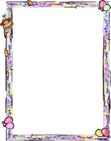 Geburtstag Rahmen Vektor Clip