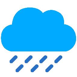 128x128 px, Cloud Rain Icon 256x256 png - PNG Rain Cloud
