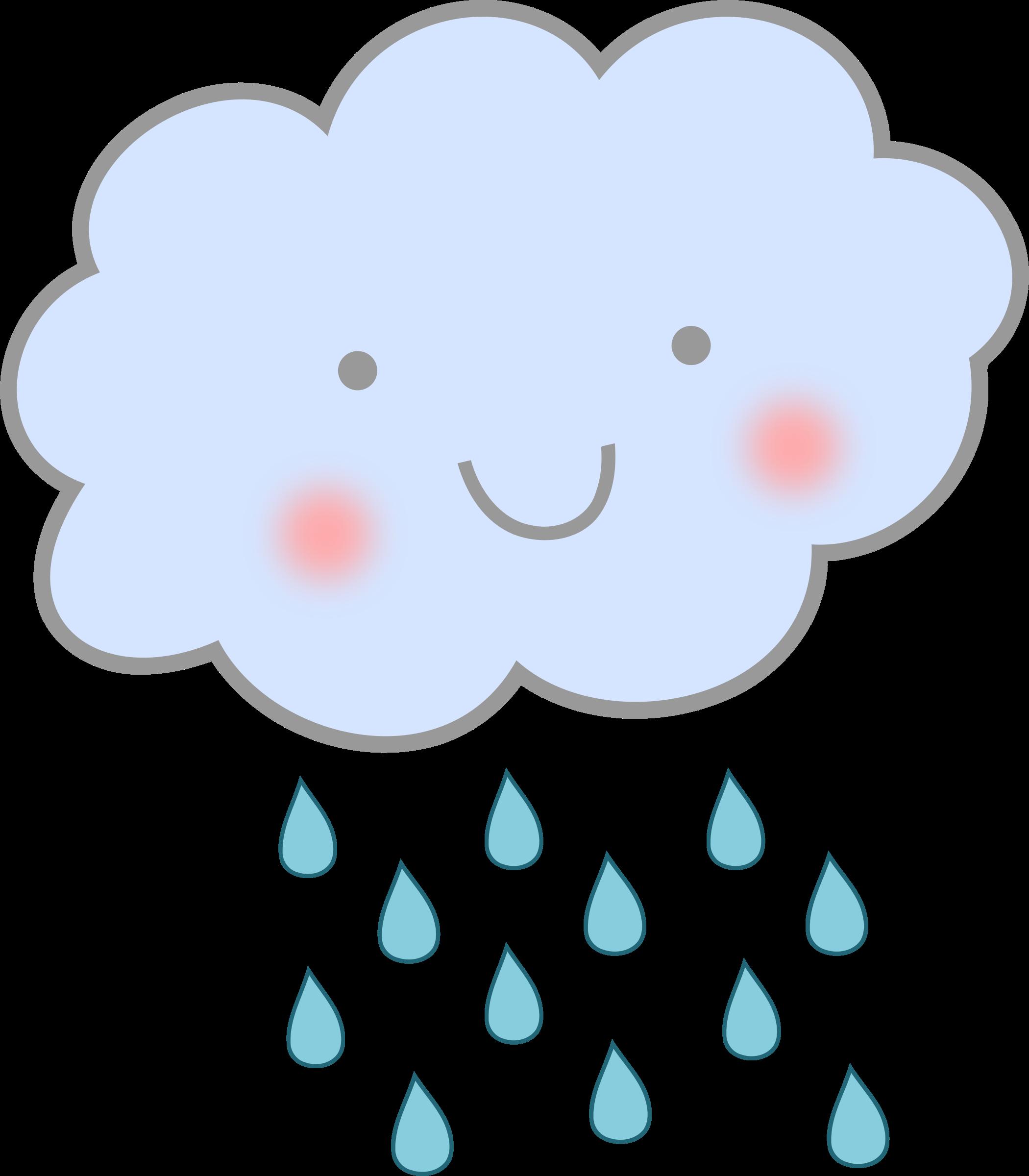 Cute-Rain-Cloud.png (2100×2400) - PNG Rain Cloud