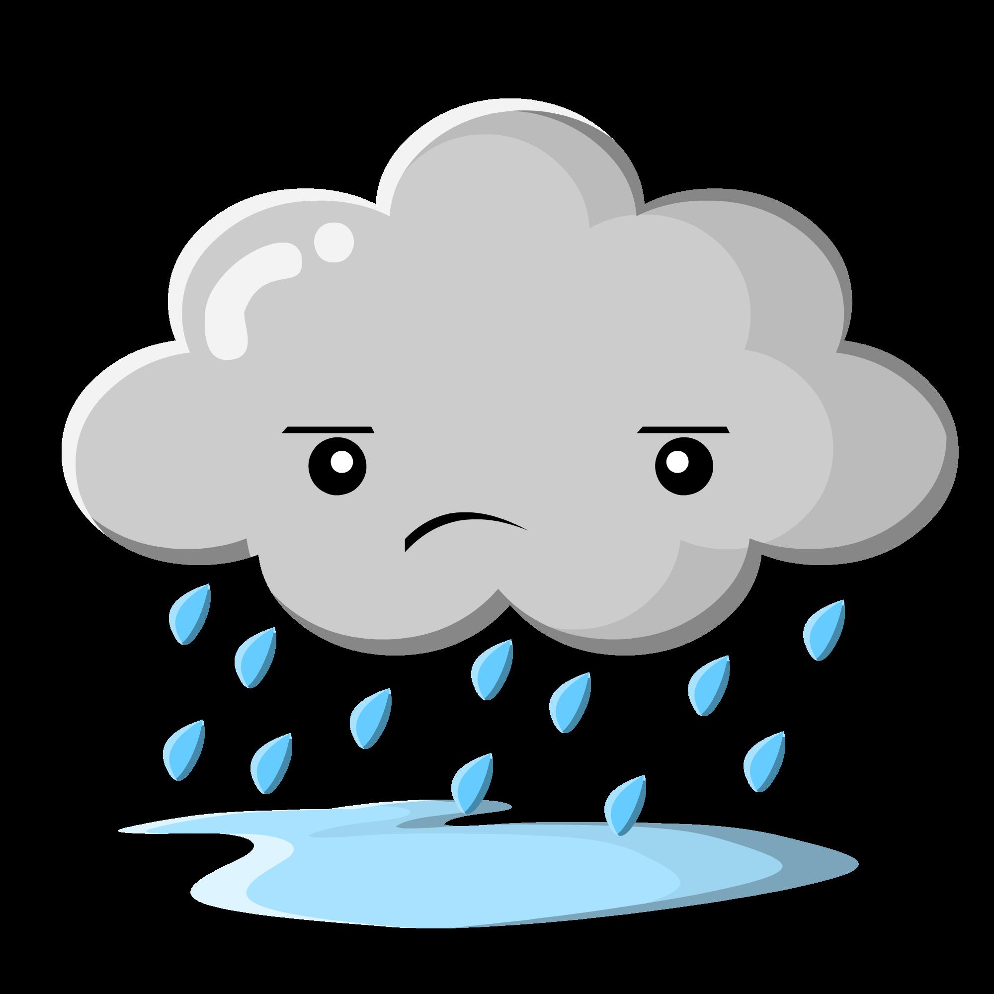 Rain cloud clipart 9 - PNG Rain Cloud