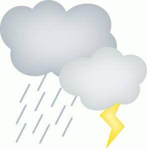 Silhouette Design Store - View Design #65954: thunderstorms - PNG Rain Cloud