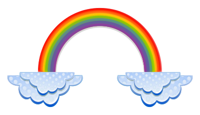 PNG Rainbow With Clouds - 65035